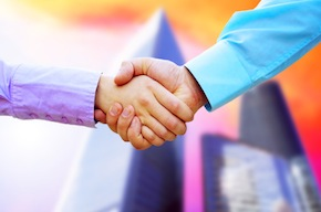 Factoring Brokers Shaking Hands