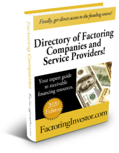 202 Factoring Directory Cover, Factoring Investor